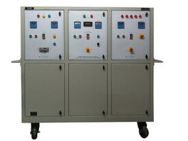 Primary current injection trolleys are used for high current testing of ACBs, SF6 CBs, VCBs and cable testing