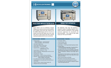SCR Elektroniks NEW Products Launched 2016