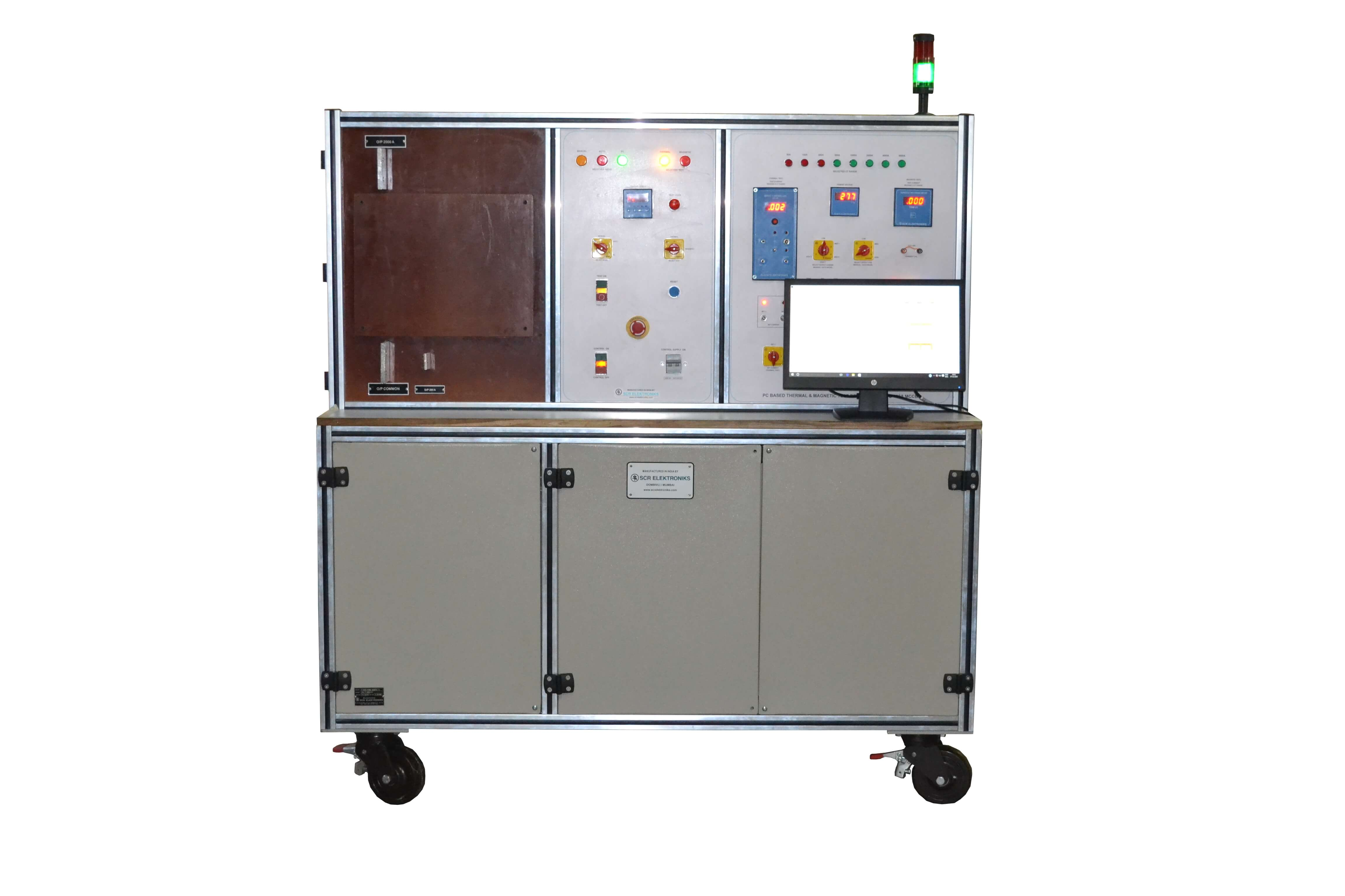 Thermal + Magnetic Test Bench for MCCB